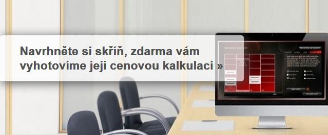 Online návrhář vestavěných skříní - Komandor