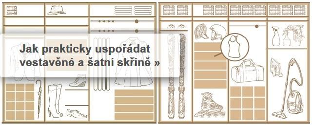 Jak nejlépe uspořádat vnitřek šatní skříně?