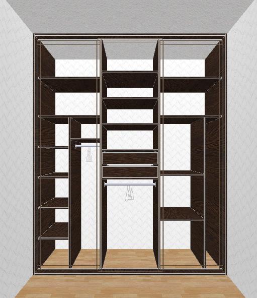 Levná vestavěná skříň bez stropu, dna a zad
